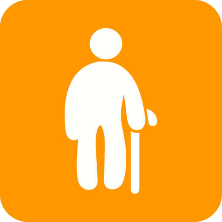 older men: Old, man, senior icon vector image. Can also be used for humans. Suitable for use on web apps, mobile apps and print media.
