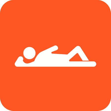 lying down: Lying, down, young icon vector image. Can also be used for humans. Suitable for use on web apps, mobile apps and print media.