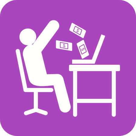 earn money: Earn, business, money icon vector image. Can also be used for humans. Suitable for use on web apps, mobile apps and print media.