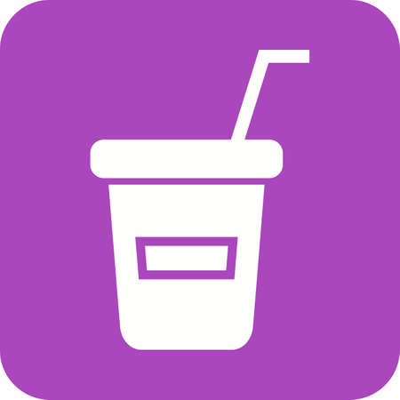Refreshments: Juice, cup, plastic icon vector image. Can also be used for outdoor fun. Suitable for use on web apps, mobile apps and print media Illustration