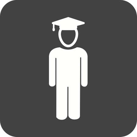 schooling: Student, standing, school icon vector image. Can also be used for schooling. Suitable for use on web apps, mobile apps and print media.