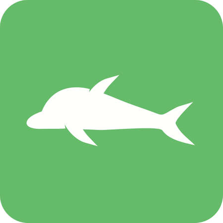 dolphin fish: Dolphin, fish, nature icon vector image. Can also be used for sea. Suitable for use on web apps, mobile apps and print media.