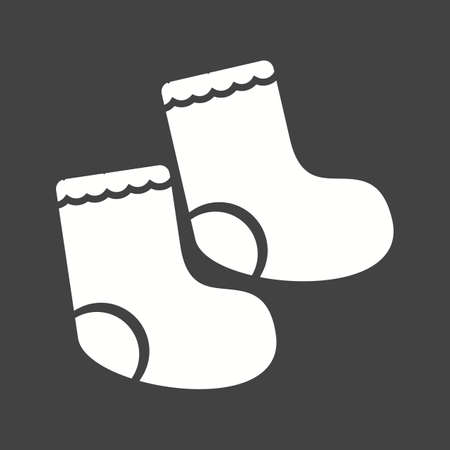Kid, socks, baby icon vector image.Can also be used for baby. Suitable for mobile apps, web apps and print media. Stock Vector - 52977217