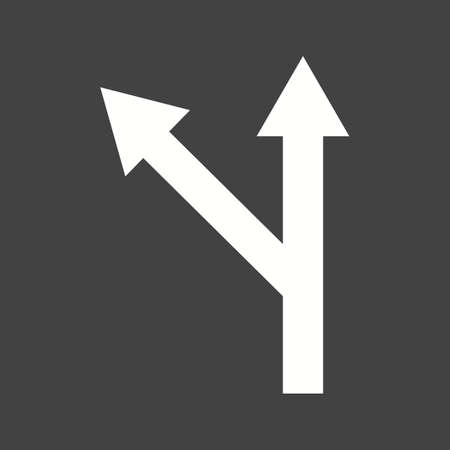 curve ahead sign: Road, turn, left icon vector image. Can also be used for maps & navigation. Suitable for mobile apps, web apps and print media. Illustration