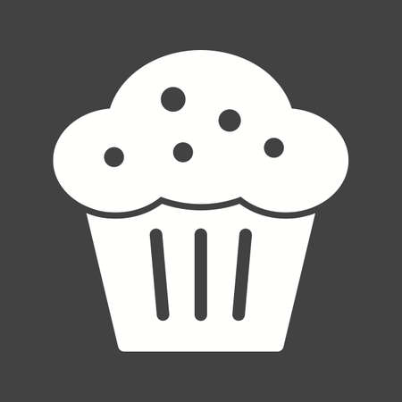 homemade cake: Muffin, pastry, sweet icon vector image. Can also be used for bakery. Suitable for use on web apps, mobile apps and print media