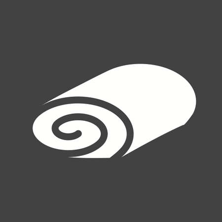 swiss roll: Roll, swiss, cake icon vector image. Can also be used for bakery. Suitable for use on web apps, mobile apps and print media.