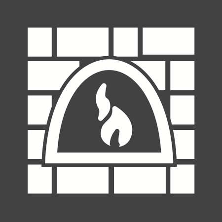 woodfire: Fire, oven, wood icon vector image. Can also be used for bakery. Suitable for use on web apps, mobile apps and print media Illustration