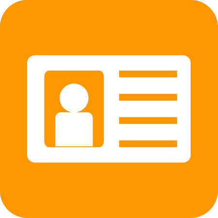 authorization: Identity, card, authorization icon vector image.Can also be used for security. Suitable for web apps, mobile apps and print media.