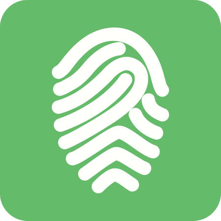fingermark: Fingerprint, print, unique icon vector image.Can also be used for security. Suitable for mobile apps, web apps and print media.