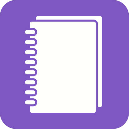spiral notebook: Notebook, spiral, notepad icon vector image.Can also be used for stationery. Suitable for mobile apps, web apps and print media.