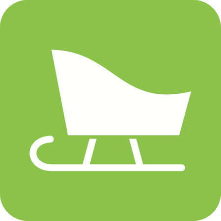 snow sled: Sled, sledding, snow icon vector image.Can also be used for winter. Suitable for use on web apps, mobile apps and print media. Illustration