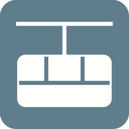 cable car: Cable, car, travel icon vector image.Can also be used for winter. Suitable for mobile apps, web apps and print media.