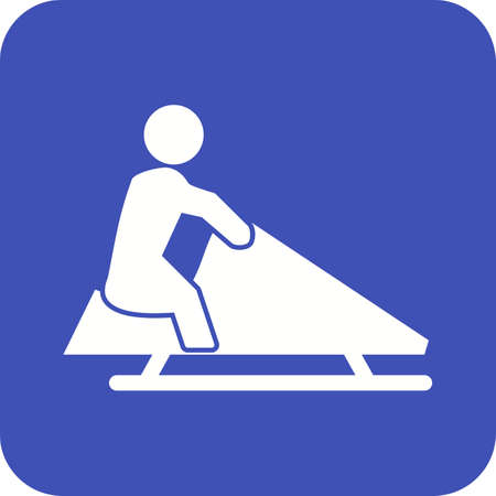 ice slide: Winter, riding, snow icon vector image.Can also be used for winter. Suitable for mobile apps, web apps and print media.