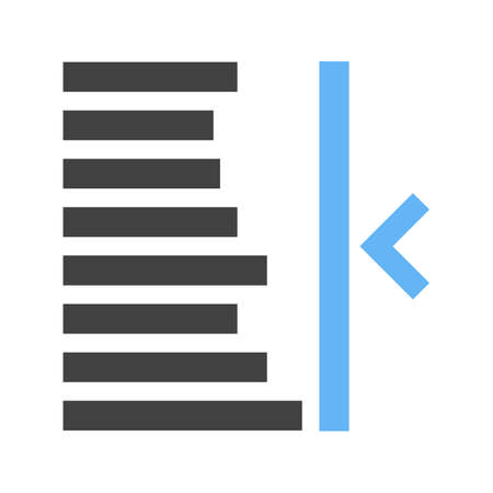 indent: Text, right, align icon vector image. Can also be used for text editing. Suitable for use on web apps, mobile apps and print media. Illustration