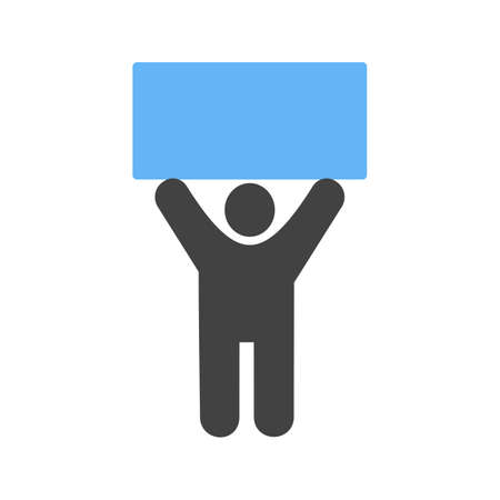 sign holder: Holder, sign, pen icon vector image. Can also be used for humans. Suitable for use on web apps, mobile apps and print media. Illustration