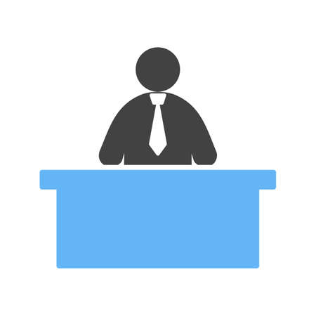 receptionists: Receptionist, call, center icon vector image. Can also be used for humans. Suitable for use on web apps, mobile apps and print media. Illustration