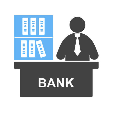 Business, mortgage, banker icon vector image. Can also be used for humans. Suitable for use on web apps, mobile apps and print media.