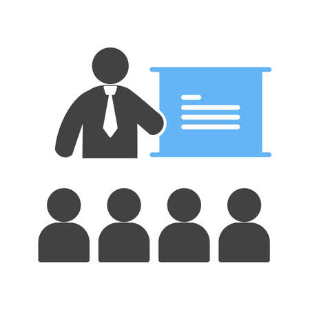teacher classroom: College, classroom, lecture icon vector image. Can also be used for humans. Suitable for use on web apps, mobile apps and print media.