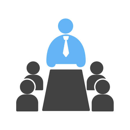 associates: Meeting, business, people icon vector image. Can also be used for humans. Suitable for use on web apps, mobile apps and print media. Illustration