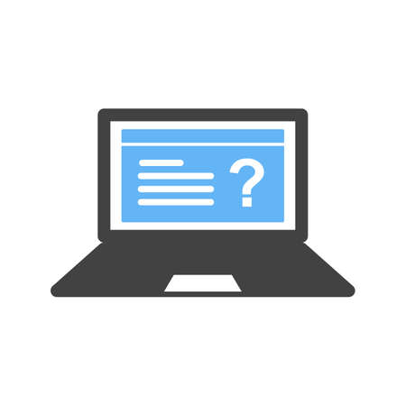 schooling: Online, test, education icon vector image. Can also be used for schooling. Suitable for use on web apps, mobile apps and print media.