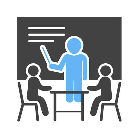 presenter: Business, male, presentation icon vector image. Can also be used for schooling. Suitable for use on web apps, mobile apps and print media.