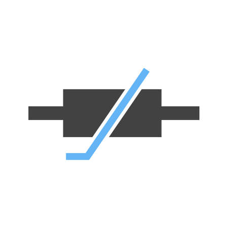 resistor: Thermistor, resistor, ohms icon vector image. Can also be used for electric circuits. Suitable for use on web apps, mobile apps and print media.