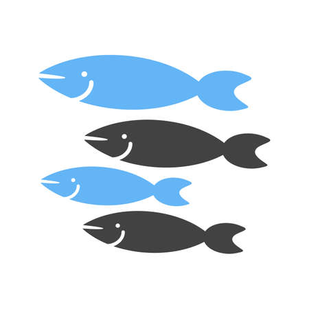 deep blue: Fish, shark, small icon vector image. Can also be used for sea. Suitable for use on web apps, mobile apps and print media.