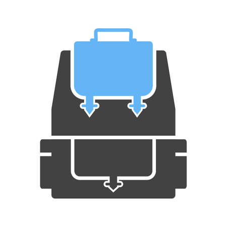 student travel: Backpack, school, bag icon vector image. Can also be used for hipster. Suitable for use on web apps, mobile apps and print media.