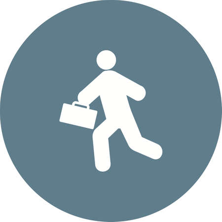 llegar tarde: Tarde, reunión, la imagen del vector icono del reloj. También se puede utilizar para los seres humanos. Adecuado para su uso en aplicaciones web, aplicaciones móviles y material de impresión. Vectores