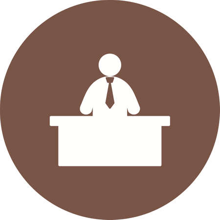 media center: Receptionist, call, center icon vector image. Can also be used for humans. Suitable for use on web apps, mobile apps and print media. Illustration