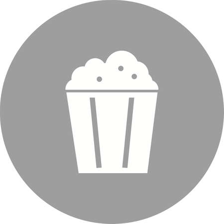 salty: Popcorn, corn, snack icon vector image. Can also be used for outdoor fun. Suitable for use on web apps, mobile apps and print media