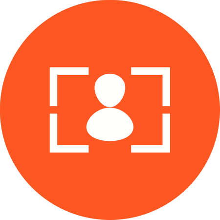 rec: Camera, focus, screen icon vector image. Can also be used for photography. Suitable for use on web apps, mobile apps and print media.