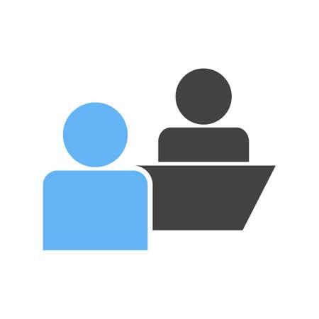 Client, réunion, image vectorielle icône d'affaires. Peut aussi être utilisé pour le marketing. Convient pour les applications Web, les applications mobiles et les médias d'impression.