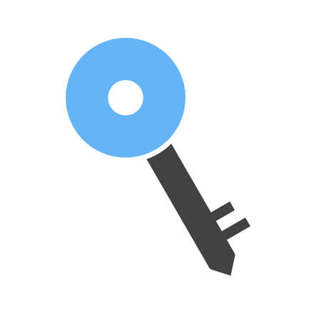 key lock: Key, security, lock icon vector image.Can also be used for security. Suitable for mobile apps, web apps and print media.