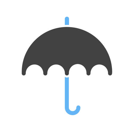 enviroment: Umbrella, rain, protection icon vector image. Can also be used for security. Suitable for use on web apps, mobile apps and print media. Illustration