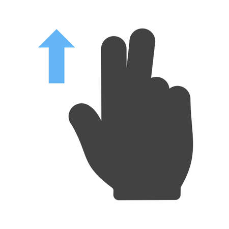 double tap: Touch, fingers, up icon vector image.Can also be used for user touch gestures. Suitable for mobile apps, web apps and print media. Illustration