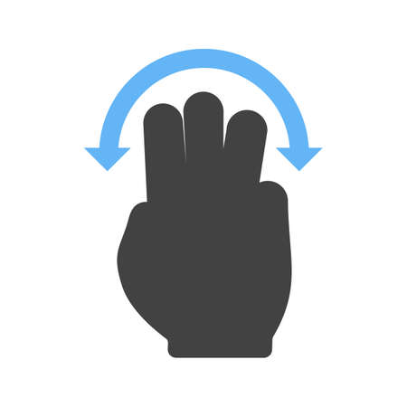hand touch: Hand, slide, rotate icon vector image.Can also be used for user touch gestures. Suitable for mobile apps, web apps and print media. Illustration