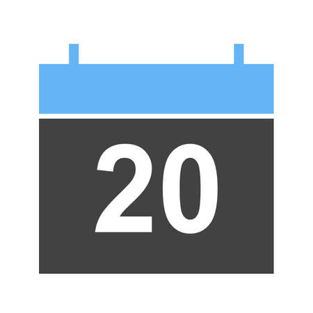 agenda year planner: Calendar, date, day icon vector image. Can also be used for winter. Suitable for use on web apps, mobile apps and print media.