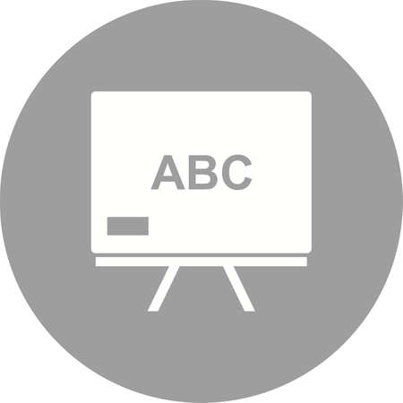 schooling: Education, math, chalkboard icon vector image. Can also be used for schooling. Suitable for use on web apps, mobile apps and print media.