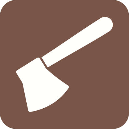 chops: Axe, wooden, handle icon vector image. Can also be used for tools. Suitable for web apps, mobile apps and print media.
