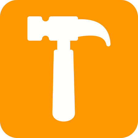 hardware tools: Hammer, tool, hardware icon vector image. Can also be used for tools. Suitable for use on web apps, mobile apps and print media. Illustration