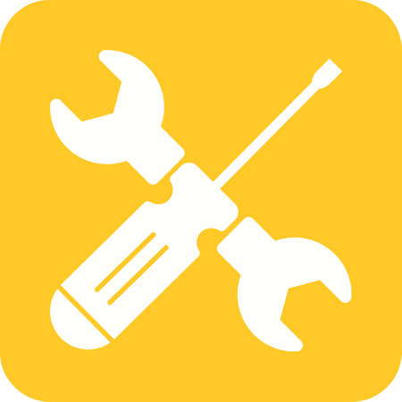 steel industry: Screwdriver, work, wrench icon vector image. Can also be used for tools. Suitable for use on web apps, mobile apps and print media.