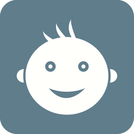 Baby, smile, haqppy icon vector image. Can also be used for baby. Suitable for use on web apps, mobile apps and print media.
