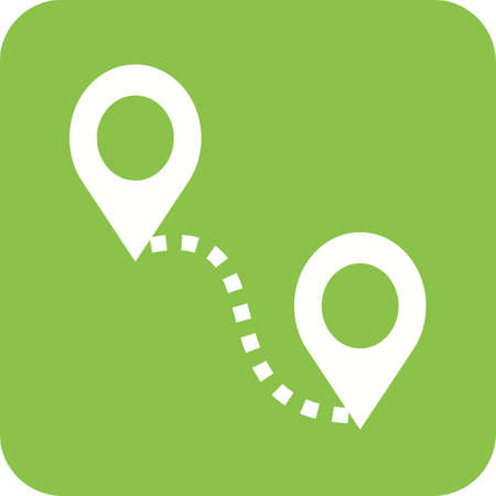 distance: Distance, road, adventure icon vector image.Can also be used for maps navigation. Suitable for mobile apps, web apps and print media.
