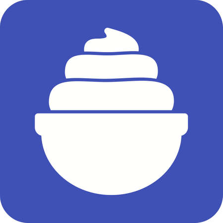 yoghurt: Cream, whipped, bakery icon vector image.Can also be used for bakery. Suitable for mobile apps, web apps and print media. Illustration
