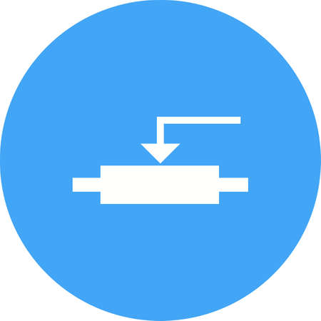 amplify: Potentiometer, control, effect icon vector image. Can also be used for electric circuits. Suitable for use on web apps, mobile apps and print media.