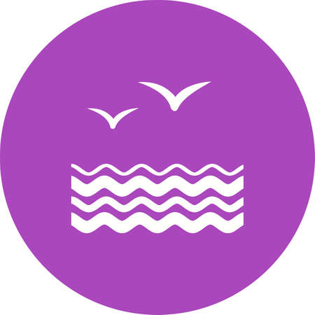 migrating: Birds, water, flock icon vector image. Can also be used for sea. Suitable for use on web apps, mobile apps and print media.