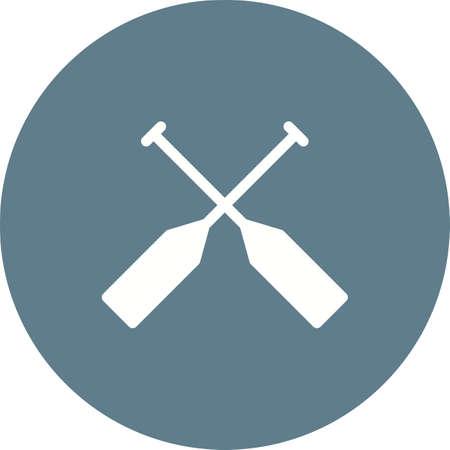 Rame, rame, l'image rafting icône vecteur. Peut aussi être utilisé pour la mer. Convient pour une utilisation sur les applications Web, les applications mobiles et les médias imprimés.