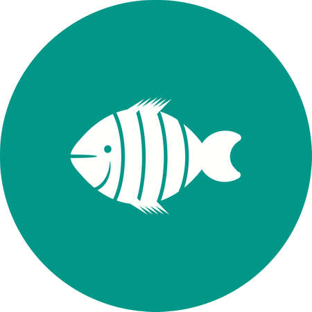 clownfish: Fish, clown, clownfish icon vector image. Can also be used for sea. Suitable for use on web apps, mobile apps and print media.
