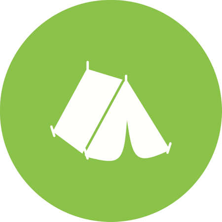family hiking: Camping, tent, summer icon vector image. Can also be used for hipster. Suitable for use on web apps, mobile apps and print media.